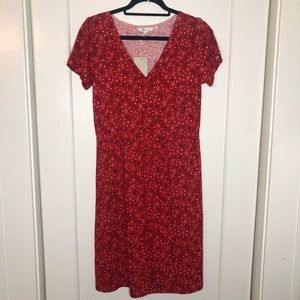 Boden vneck v neck dress Americana stars 8